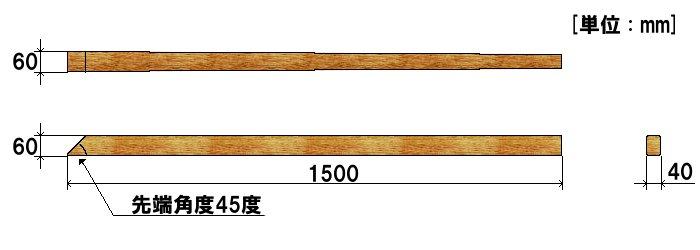 木製てこ棒